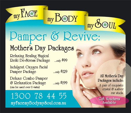 Mother's Day Gift Vouchers For Three Pampering Packages